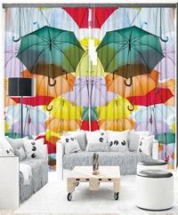 Draperii 3D Orange Venue Umbrellas