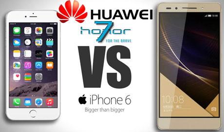 Huawei Honor 7 sau iPhone6 la pret dublu