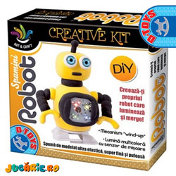 Jucarii D-Toys - Robotii Spumini din spuma modelatoare