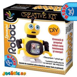 Creaza singur un Robot Spumini (jucarii 5 ani)