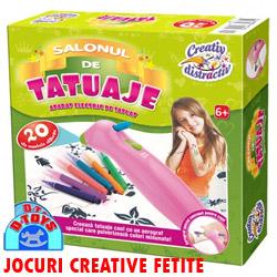 Jocuri creative pentru fetite Salonul de Tatuaje creaza tatuaje pentru copii DToys