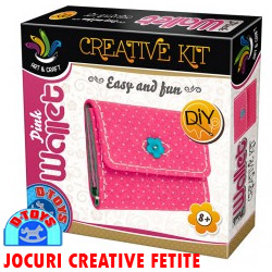 PINK WALLET Set creatie portofel roz