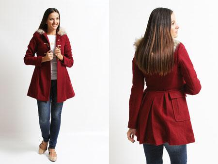 Palton de dama ASOS Duffle visiniu