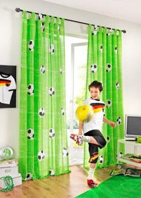 Perdea camera copii Tema Fotbal pentru baieti