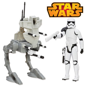 Figurina si vehicul Star Wars Soldat Imperial
