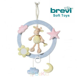 Inelul muzical decorativ Girafa de la Brevi Soft Toys