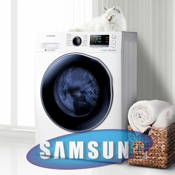 Masina de spalat Samsung 8 kg cu uscator model WD80J6410AW LE Pret Redus