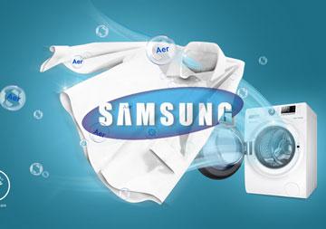 Masina de spalat Samsung WD80J6410AWLE cu uscator incorporat