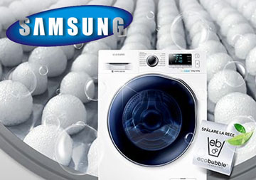 Masina de spalat cu uscator incorporat Samsung WD80J6410AWLE
