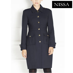 Redingota de dama stil military NISSA