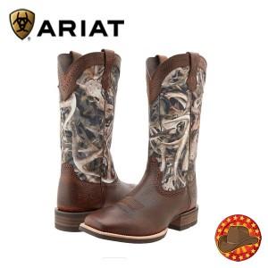 Cizme din piele barbatesti model Western Ariat Quickdraw Cowboy