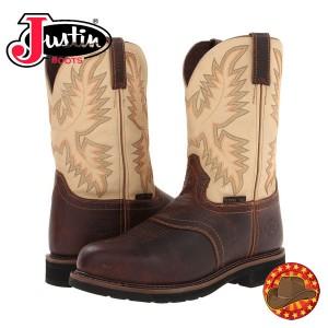 Ghete Western Barbatesti Justin WK4661 Steel Toe