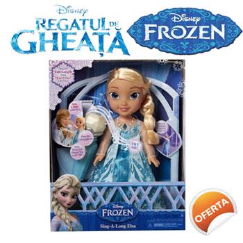 Papusa Elsa Cantareata cu Karaoke - Jucarii Disney Frozen Regatul de Gheata