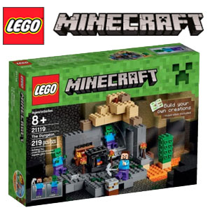 Lego Minecraft Temnita 21120 cel mai ieftin set lego minecraft