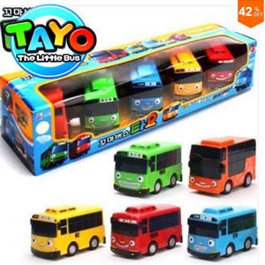 Pachet 5 Machete Autobuze Tayo The Little Bus Toys