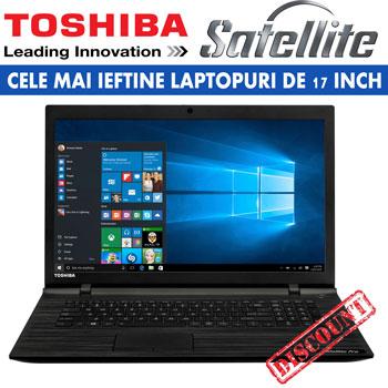 CELE MAI IEFTINE LAPTOPURI DE 17 INCH Laptopul Toshiba Satellite C70-C-198 cu procesor Intel® Pentium® Dual Core
