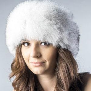 Caciula dama din blana naturala vulpe polara stil rusesc