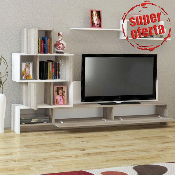 Comoda TV Wooden Art in oferta de reduceri de pret a eMAG
