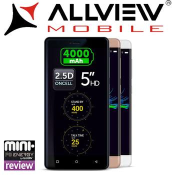 Review Pareri si Preturi Smartphone Allview P8 Energy Mini 5 inch White Gray Gold