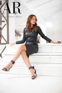 Rochie cu maneca lunga din piele Andreea Raicu