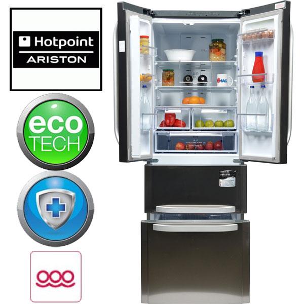 Combina frigorifica cu 3 usi Hotpoint Quadrio E4DAAXC 470 l Clasa A+ Full No Frost