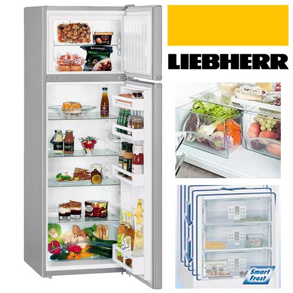 Frigider (combina frigorifica) Liebherr cu doua usi CTPsl 2921, 272 l, Clasa A++