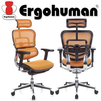 Scaun Ergohuman v2 Plus Elite, mesh Portocaliu