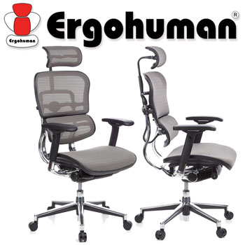 Scaun Ergohuman v2 Plus Elite, mesh Gri