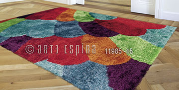 Covor Funky Arte Espina Multicolor, Tesut mecanic