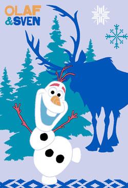 Covor copii Disney Frozen Olaf si Sven