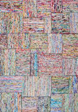 Covor multicolor The Rug Republic lucrat manual Silk Lane, 160 x 230 cm