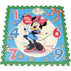 Covoras tip puzzle pentru copii cu Minnie Mouse, fabricat din spuma EVA
