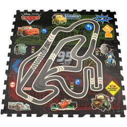 Covoras puzzle - Cars, 90 x 90 cm