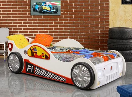 Patut copii in forma de masina Monza