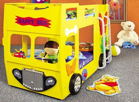 Patut in forma de masina Happy Bus