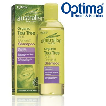Sampon organic anti matreata Optima cu Tea Tree (arborele de ceai Australian)