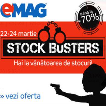 Reduceri de preturi si de 70% la Stock Busters eMAG
