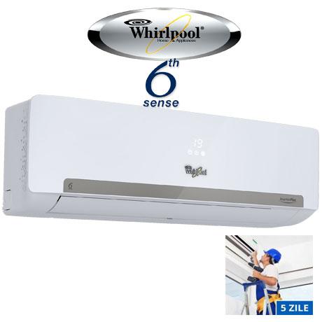 Whirlpool SPIW 409 Inverter, 9000 BTU, Clasa A++, Al 6-lea Simt, Display, Filtru HD + Filtru HEPA