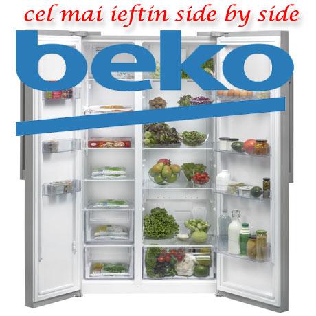 Cel mai ieftin frigider Side by Side Pareri si Pret BEKO GN163022S, NeoFrost, 558 l