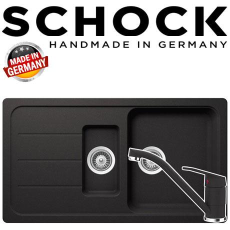 Kit chiuveta Schock Formhaus D-150 si baterie Schock Cosmo Nero