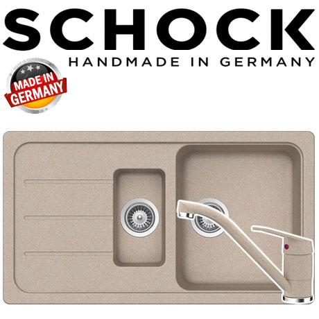 Kit chiuveta granit Schock Formhaus D-150 si baterie Schock Cosmo Sabia