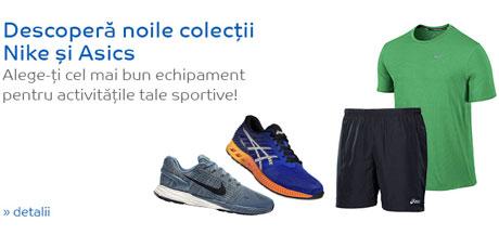 Noile colectii Nike si Asics pentru Fitness si Alergare