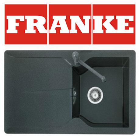 Pachet Franke chiuveta tectonite MTD 611 reversibila, Grafite + baterie Bahia Grafite