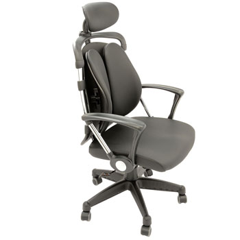 Pret eMAG Scaun de birou ergonomic Kring Ergo cu suport lombar si tetiera