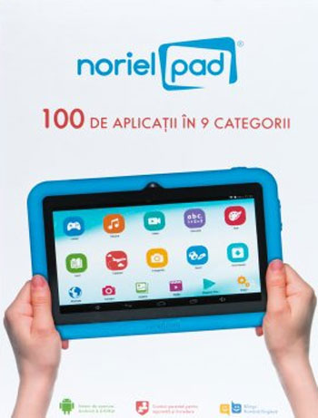 Tableta Noriel Pad cu jocuri si aplicatii educative pentru copii