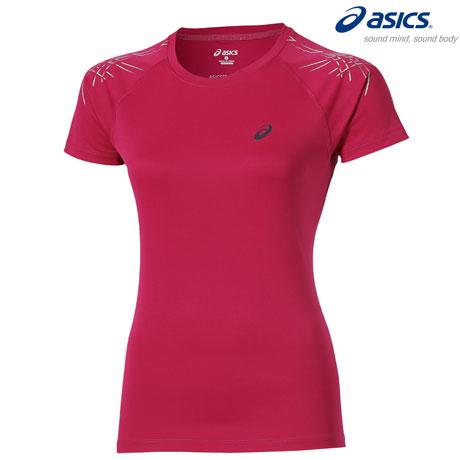 Tricou fitness si alergare Asics Stripe Top pentru femei, Azalea