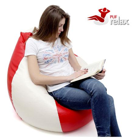 Fotolii confortabile tip para Puf Relax umplute cu polistiren