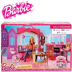 Casuta portabila pentru papusi Barbie Jucarii Barbie