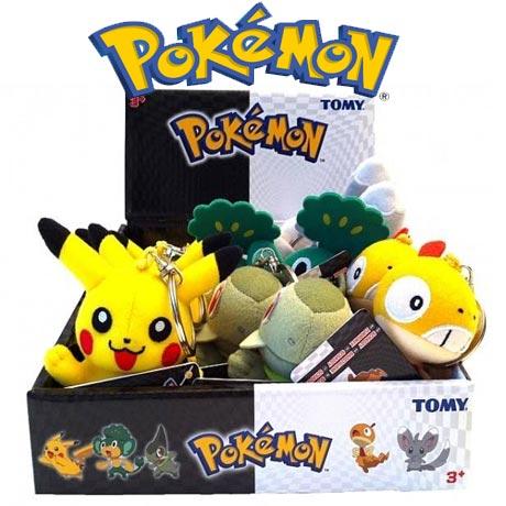 Mai multe modele de Figurine Breloc Pokemon.