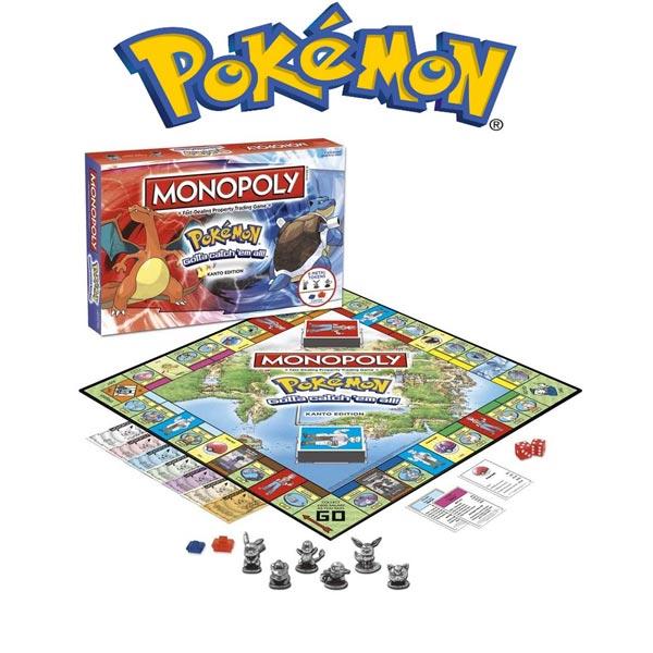 Pokemon Monopoly Joc de societate pentru copii si adolescenti